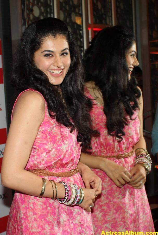 Tamil Actress Tapsee Hot In Pink Dress 3