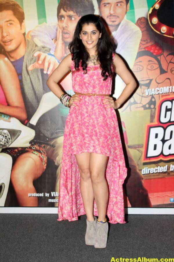 Tamil Actress Tapsee Hot In Pink Dress 4