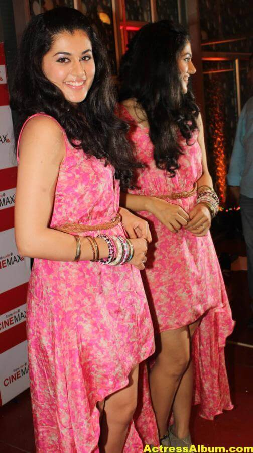 Tamil Actress Tapsee Hot In Pink Dress 6