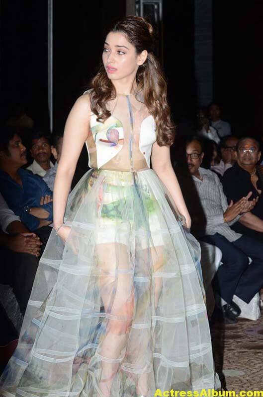 Tamanna In Transparent Dress At IIFA Utsavam Event Photos 2