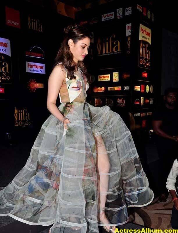Tamanna In Transparent Dress At IIFA Utsavam Event Photos 3