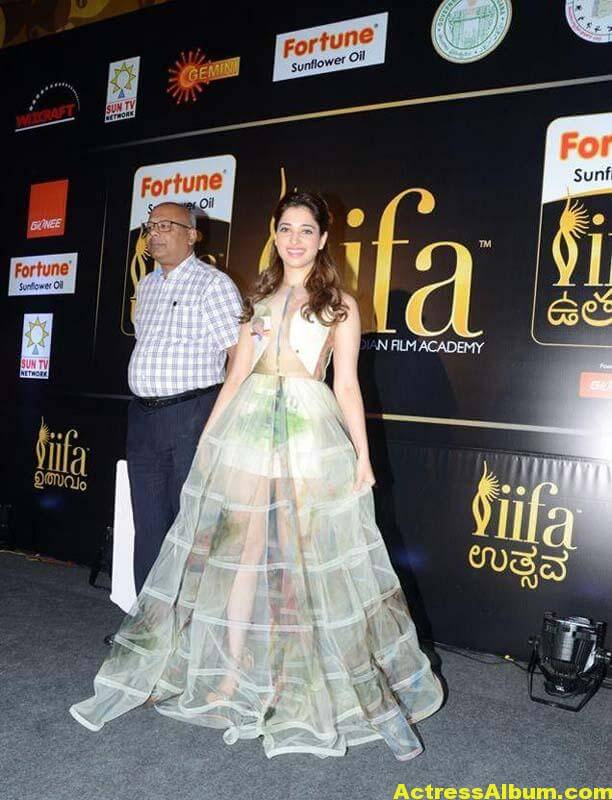 Tamanna In Transparent Dress At IIFA Utsavam Event Photos 4