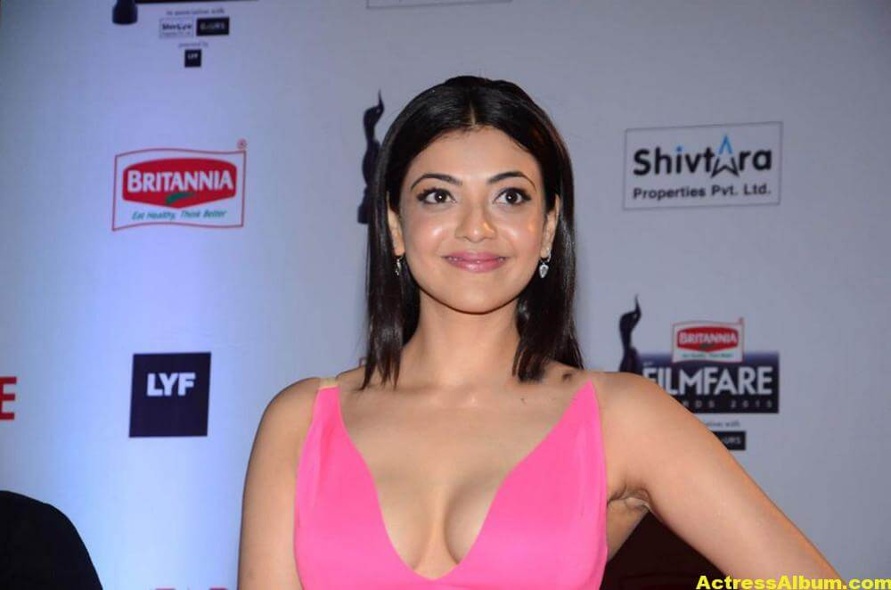 Tamil Actress Kajal Agarwal Hot Stills in Pink Dress 5