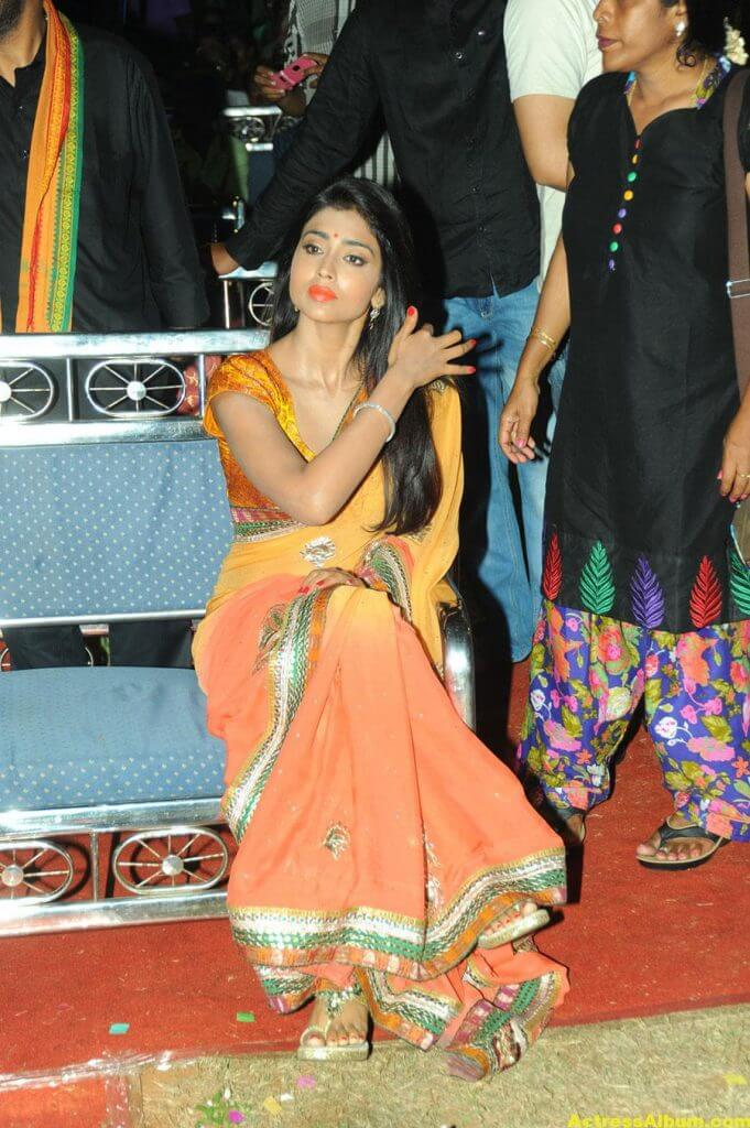 Actress Shriya Saran Latest Saree Photos 2