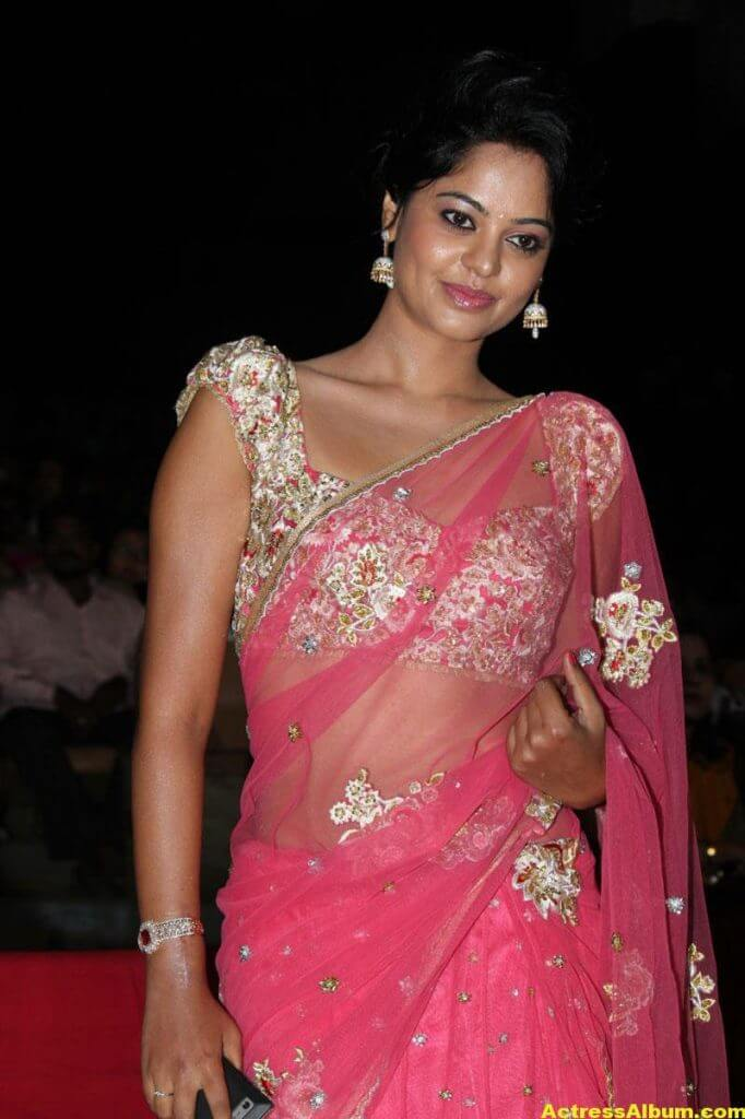 Bindu Madhavi Hot in Pink Saree 4