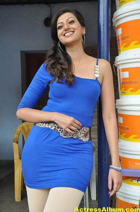 South actress Hamsa Nandini latest blue dress photos 1