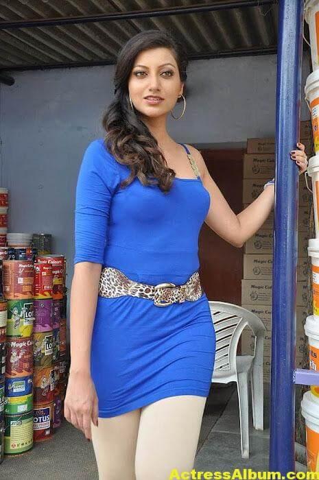 South actress Hamsa Nandini latest blue dress photos 2
