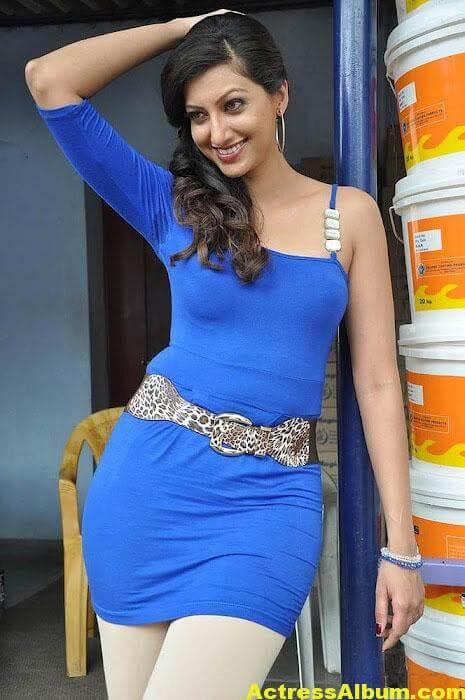 South actress Hamsa Nandini latest blue dress photos 4