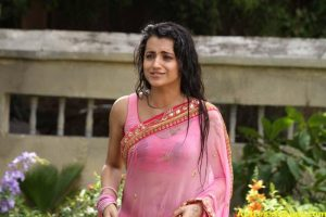 TRISHA IN PINK SAREE STILLS 2