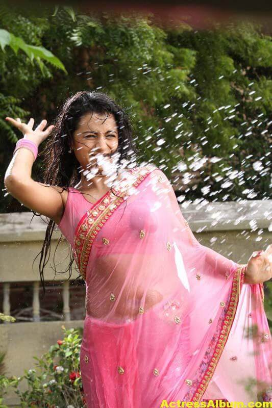 TRISHA IN PINK SAREE STILLS 7
