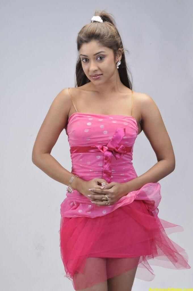 Actress Payal Ghosh Latest Pics in Pink Dress 4