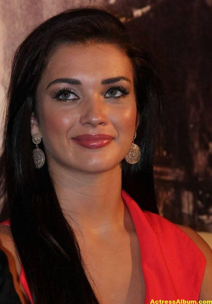 Amy Jackson Latest Photos In Red Dress 1