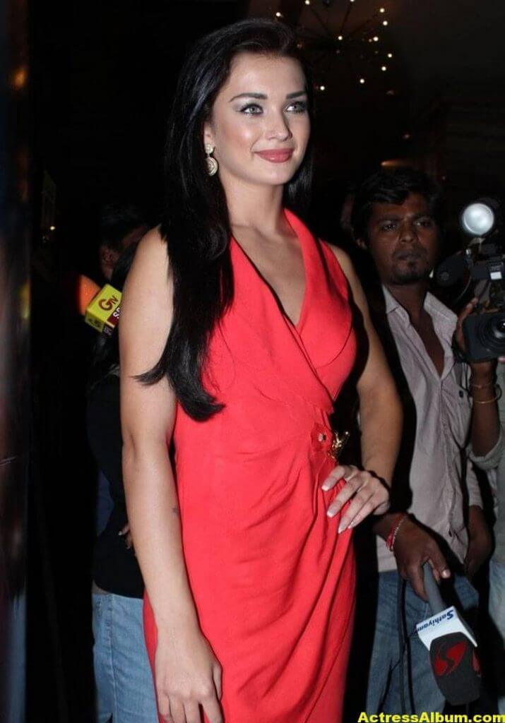 Amy Jackson Latest Photos In Red Dress 2