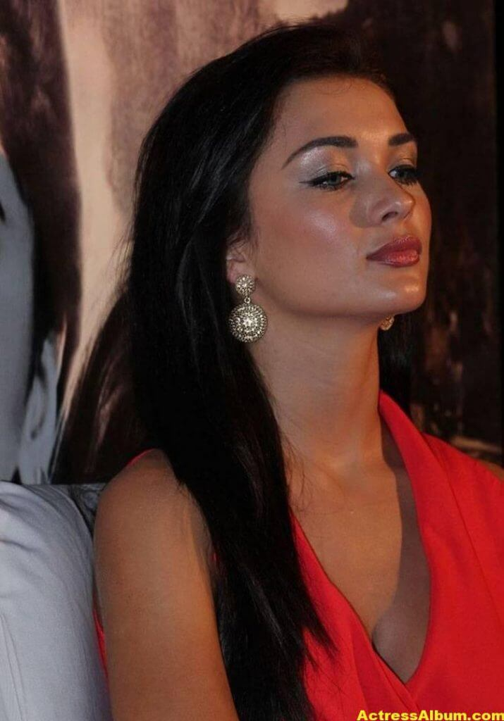 Amy Jackson Latest Photos In Red Dress 3