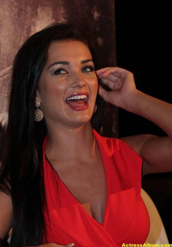 Amy Jackson Latest Photos In Red Dress 4