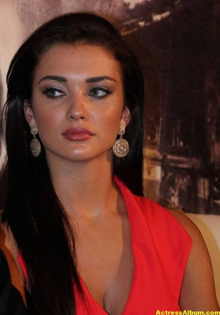 Amy Jackson Latest Photos In Red Dress 5