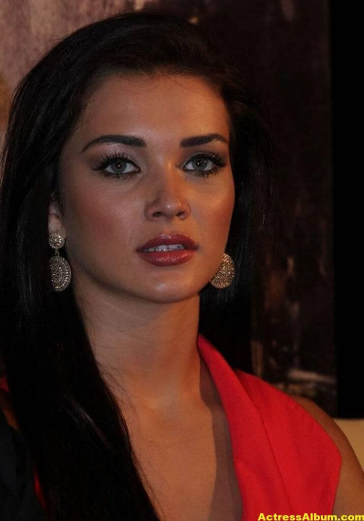 Amy Jackson Latest Photos In Red Dress 6