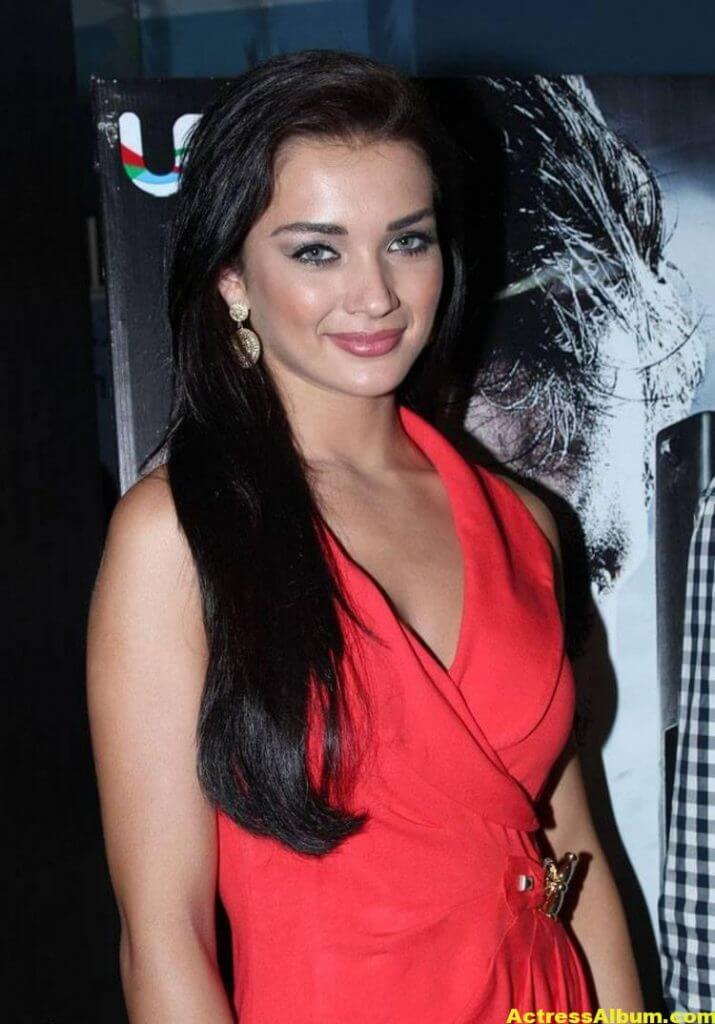 Amy Jackson Latest Photos In Red Dress 7