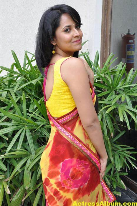 Anchor Anasuya Beautiful Pictures In Yellow Saree (4)