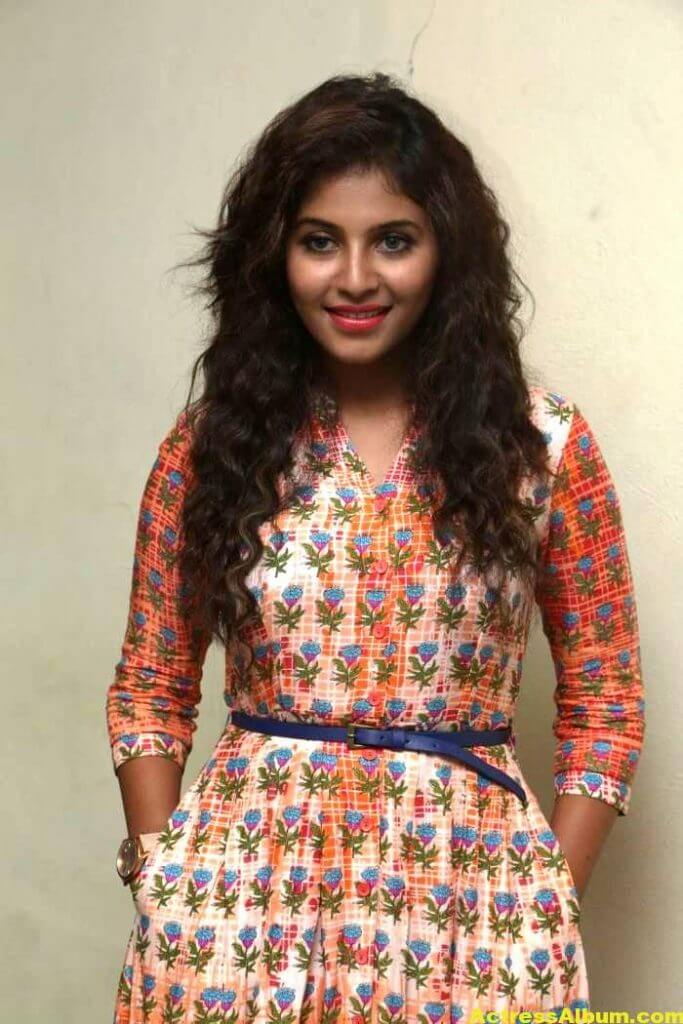 Anjali Latest Gorgeous Stills In Orange Dress 2