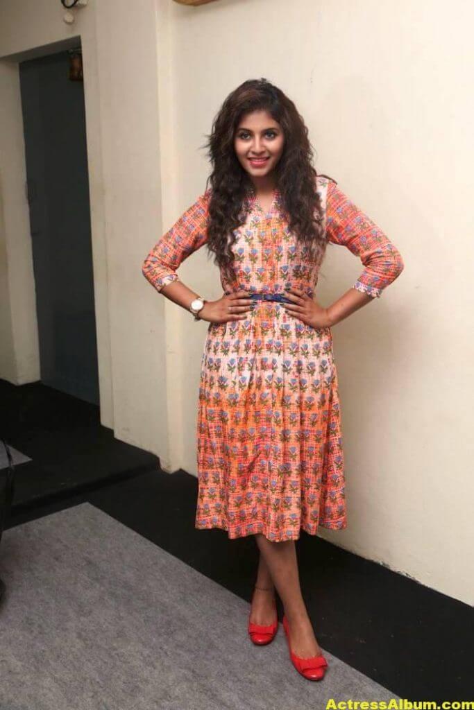 Anjali Latest Gorgeous Stills In Orange Dress 4
