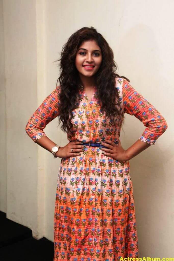 Anjali Latest Gorgeous Stills In Orange Dress 5