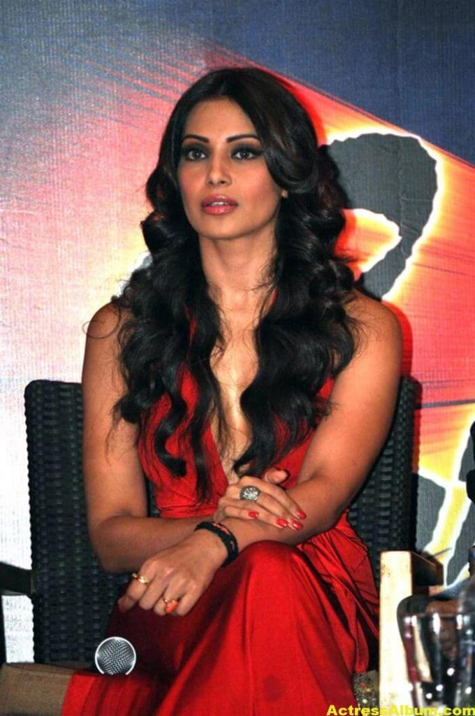 Bipasha Basu Latest Hot Stills In Red Dress 1