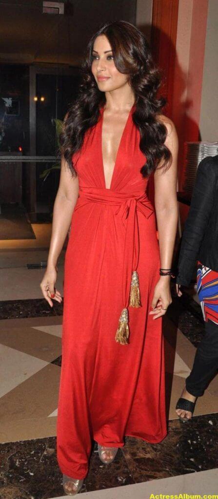 Bipasha Basu Latest Hot Stills In Red Dress 2