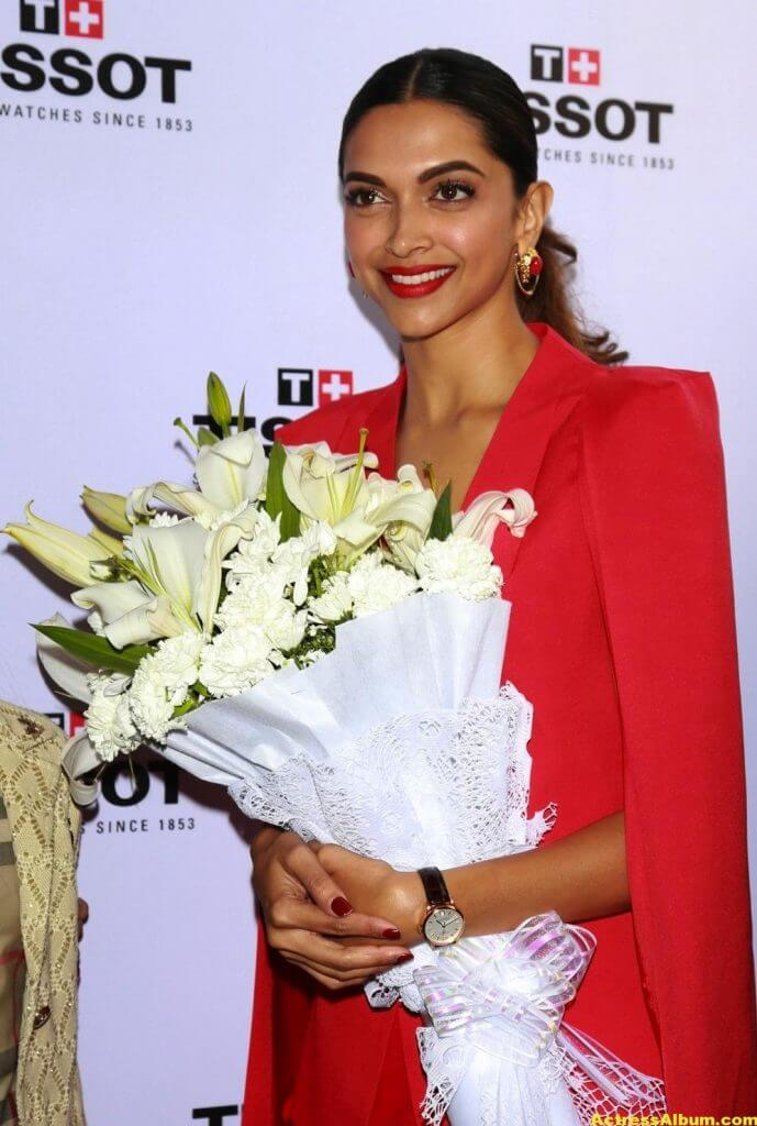 Deepika Padukone Latest Photos In Red Dress 2