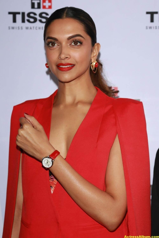Deepika Padukone Latest Photos In Red Dress 4 - Actress Album