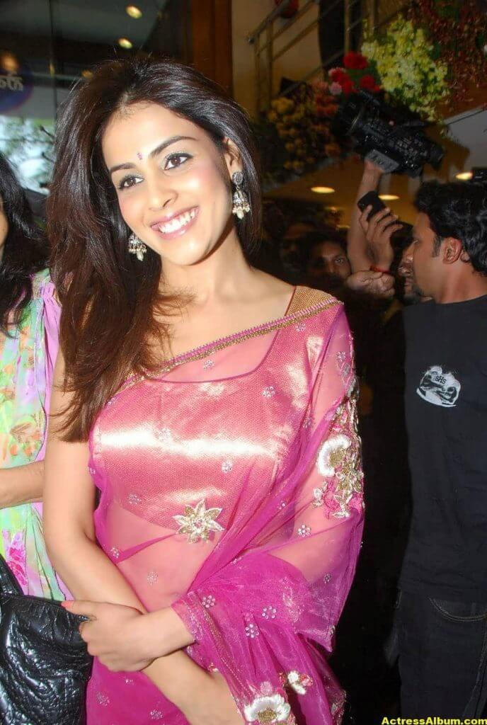 Genelia Hot Photos In Pink Saree 1