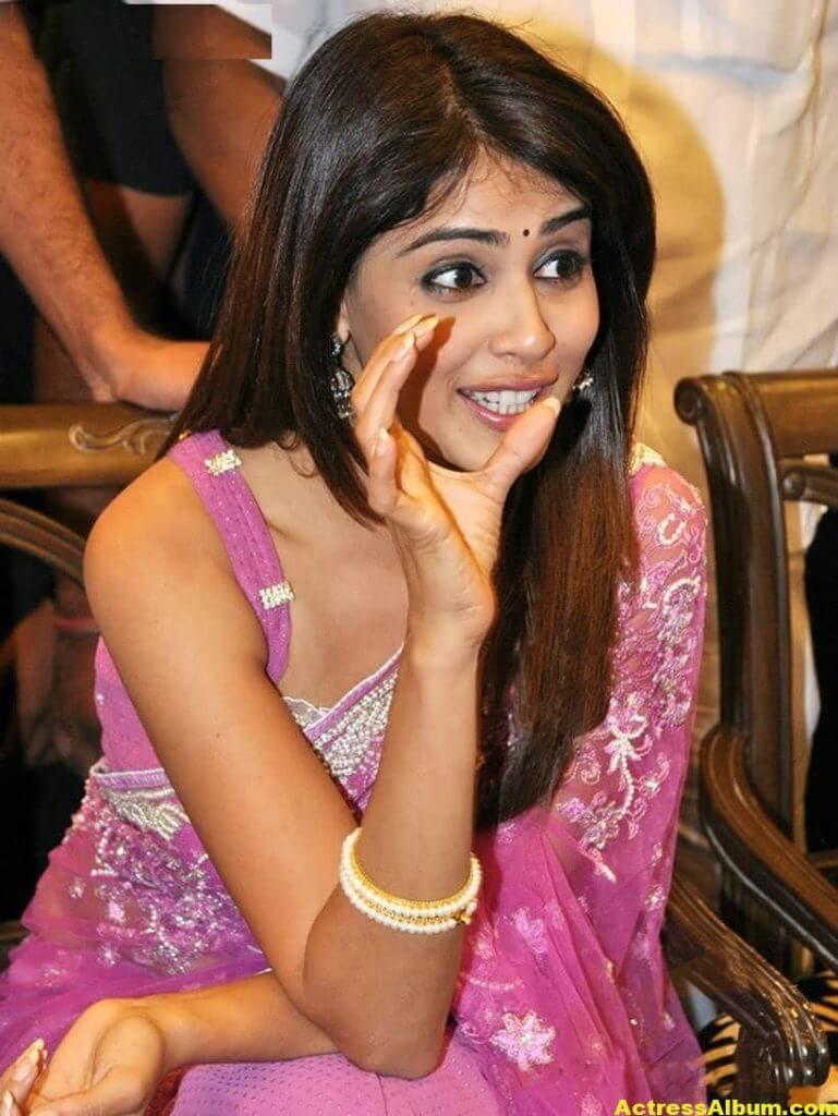 Genelia Hot Photos In Pink Saree 2
