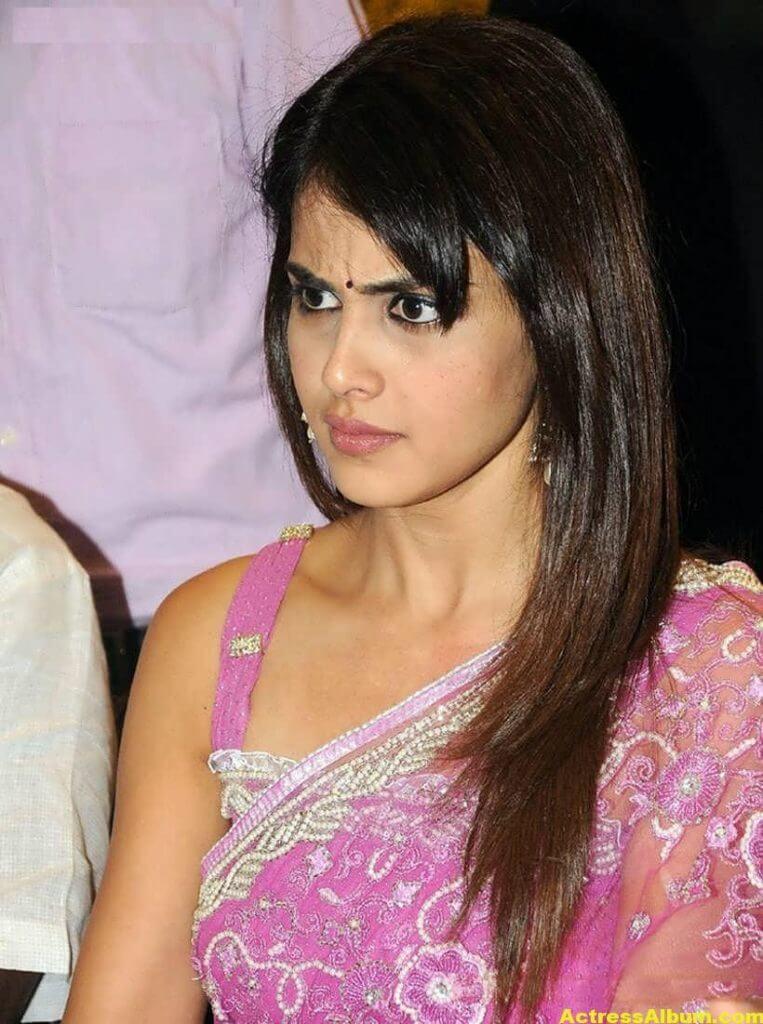 Genelia Hot Photos In Pink Saree 3