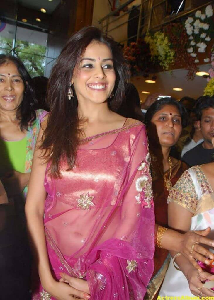 Genelia Hot Photos In Pink Saree 5