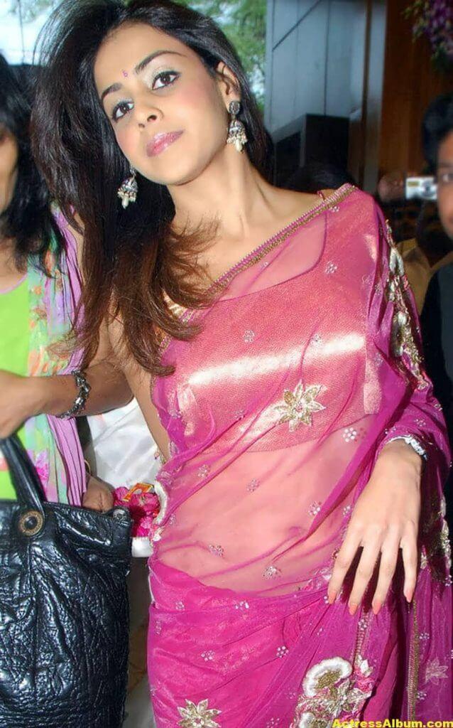 Genelia Hot Photos In Pink Saree 6