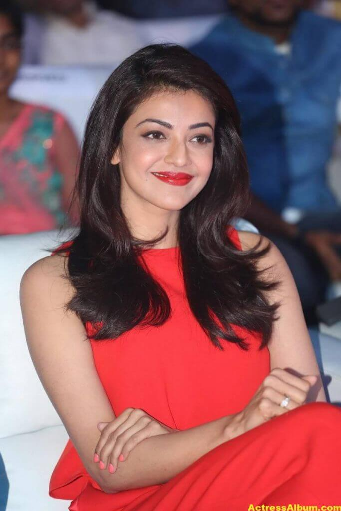 Kajal Aggarwal Beautiful Photos In Orange Dress 3