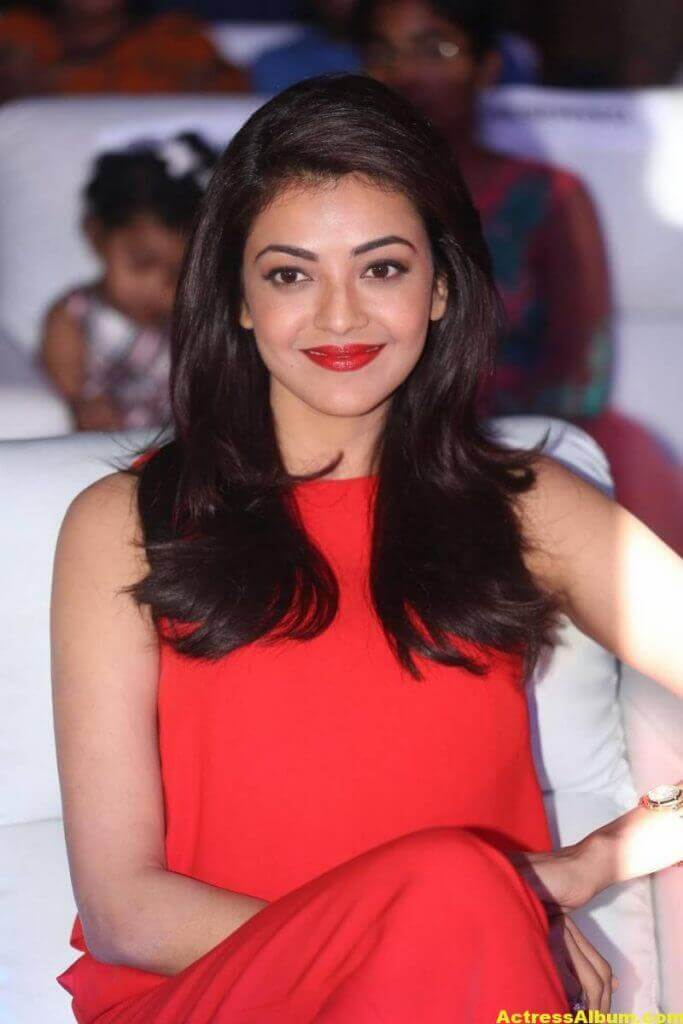 Kajal Aggarwal Beautiful Photos In Orange Dress 5