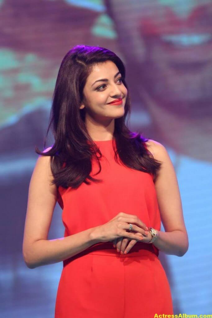Kajal Aggarwal Beautiful Photos In Orange Dress 6