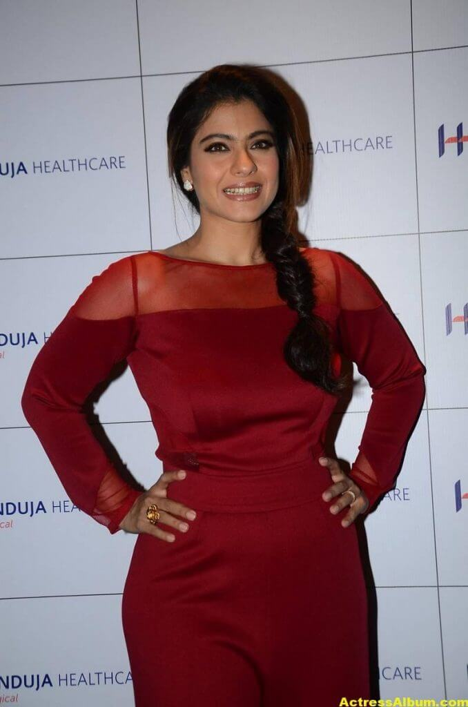 Kajol Beautiful Photos In Maroon Dress 1