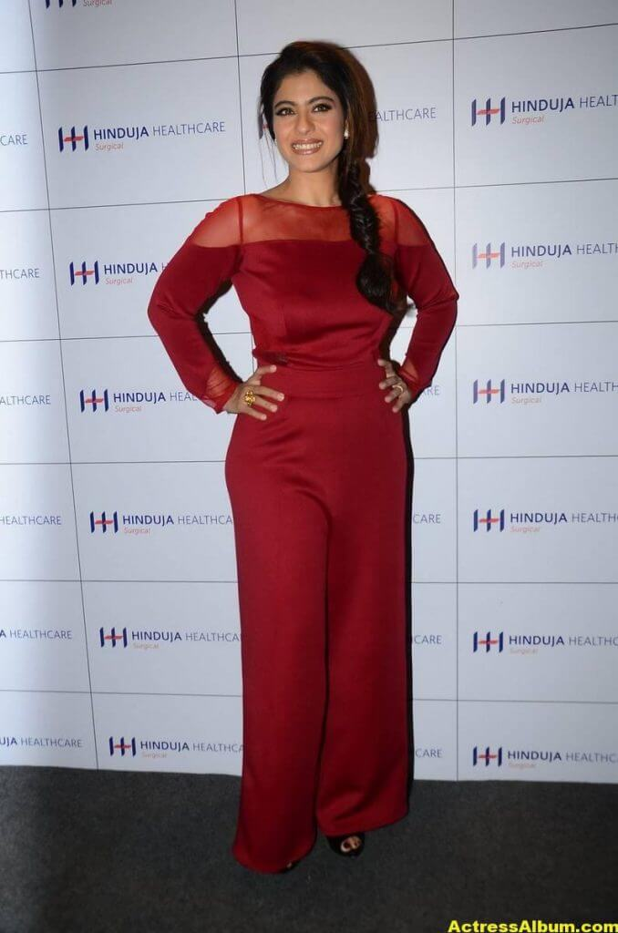 Kajol Beautiful Photos In Maroon Dress 3