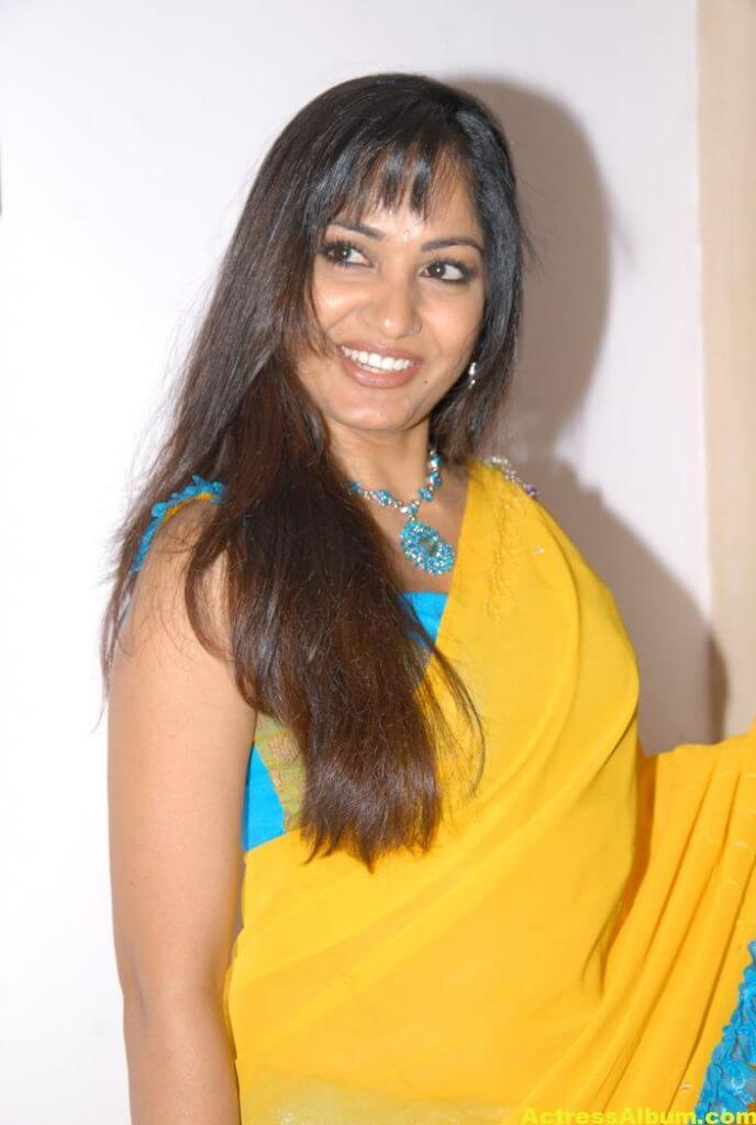 Madhavi Latha Latest Stills in Yellow Saree 2