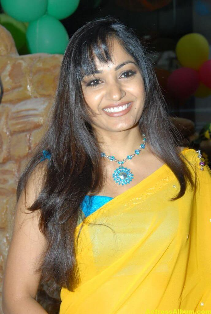 Madhavi Latha Latest Stills in Yellow Saree 5