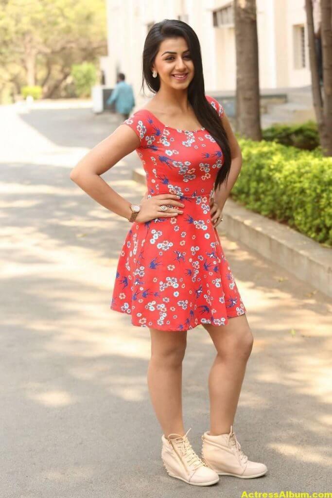 Nikki Galrani Hot Legs Showing Photos 1
