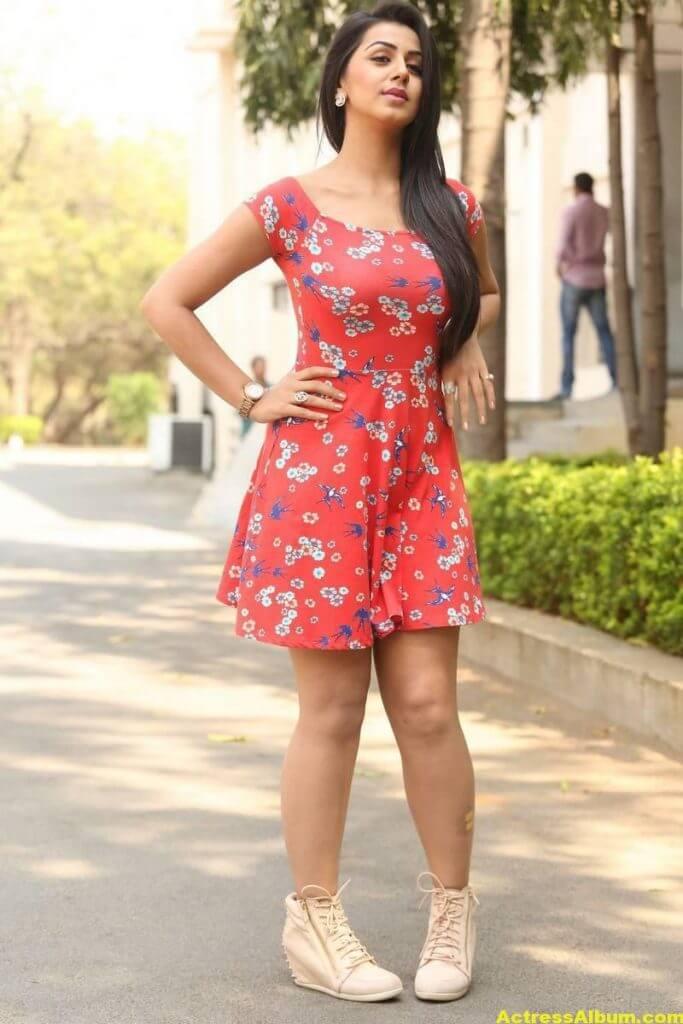 Nikki Galrani Hot Legs Showing Photos 3