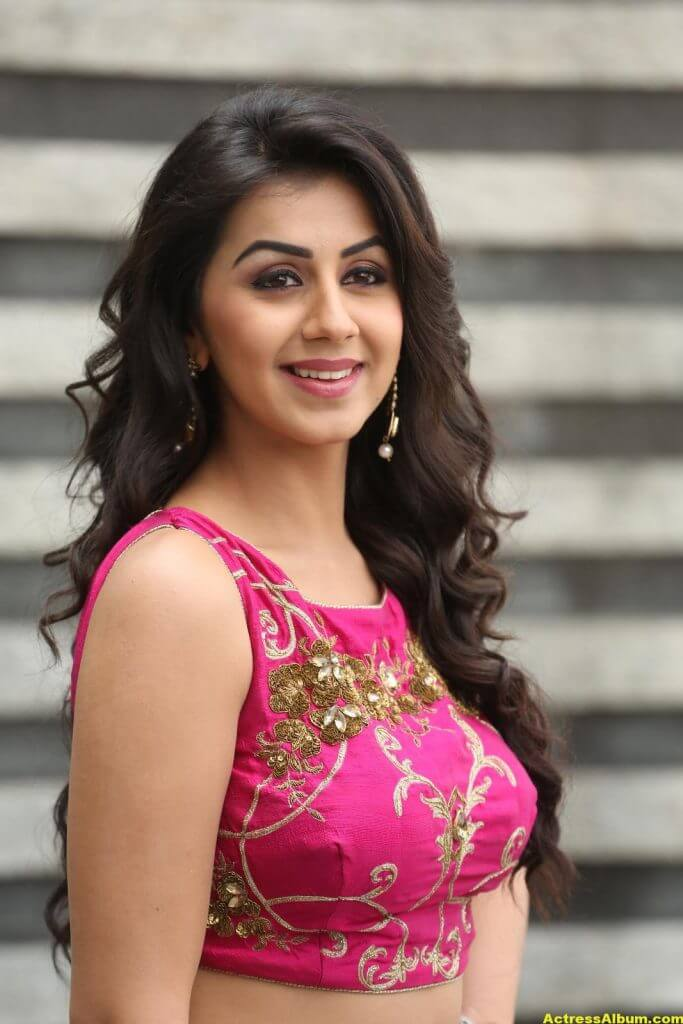 Nikki Galrani Latest Hot Photoshoot In Pink Dress 3