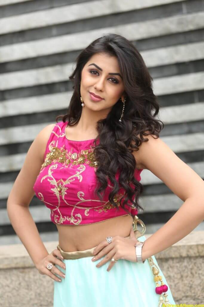 Nikki Galrani Latest Hot Photoshoot In Pink Dress 4