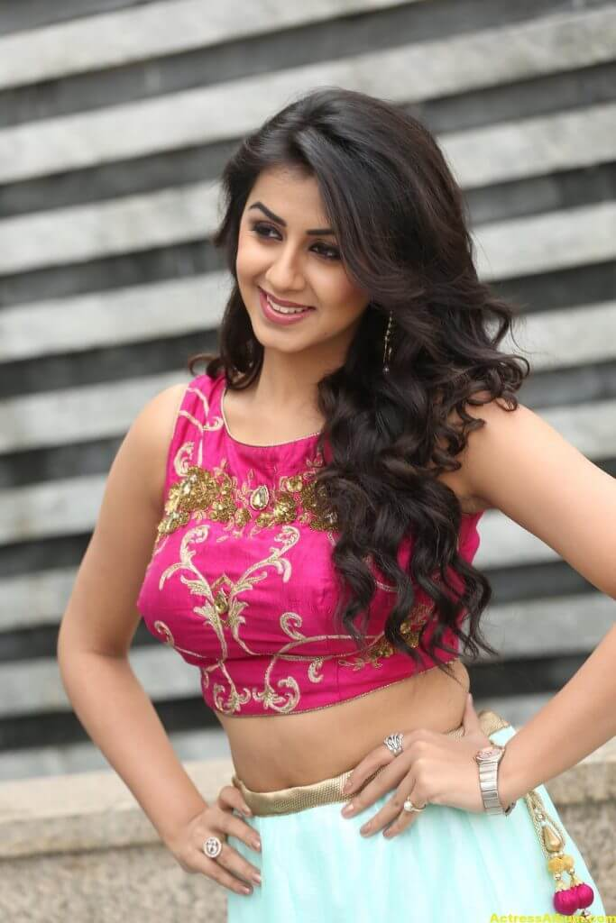 Nikki Galrani Latest Hot Photoshoot In Pink Dress 5