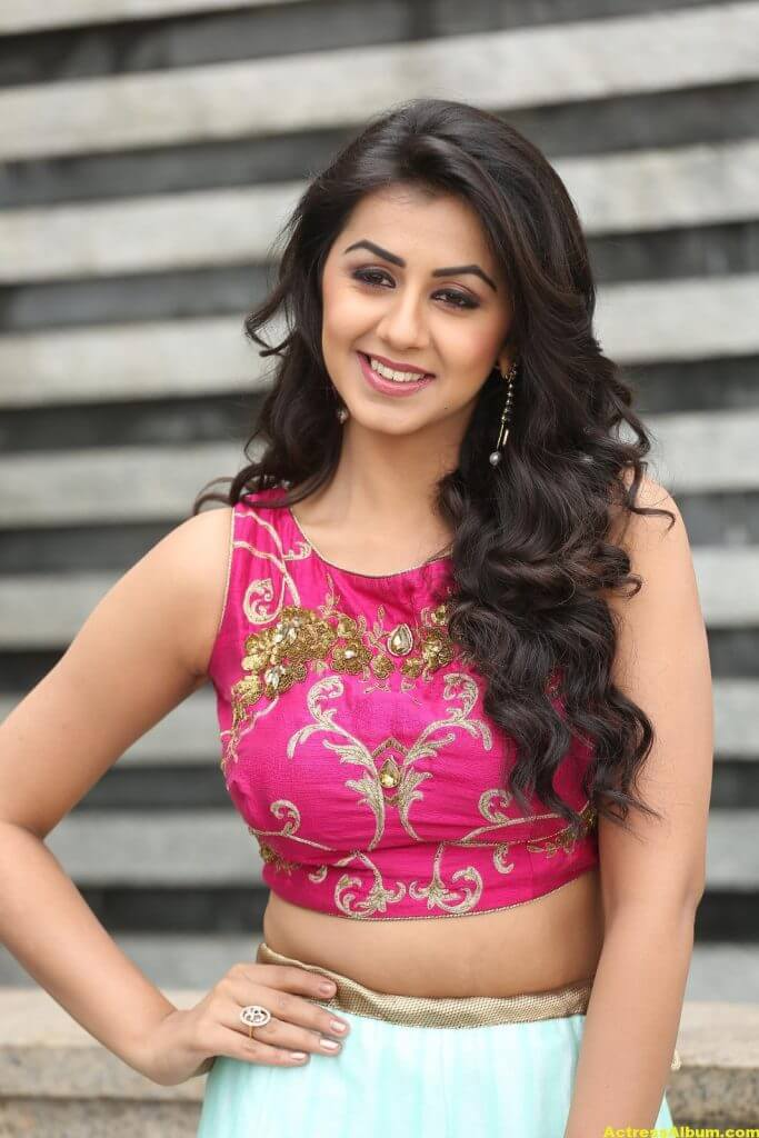 Nikki Galrani Latest Hot Photoshoot In Pink Dress 6