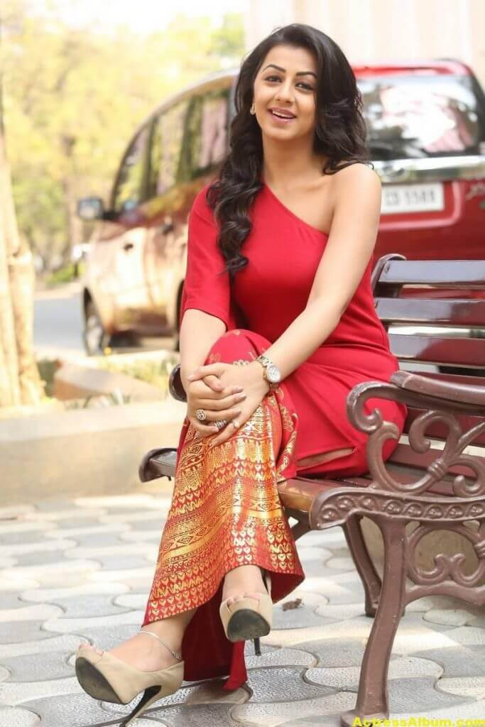 Nikki Galrani Stills Latest Photoshoot In Red Dress 0