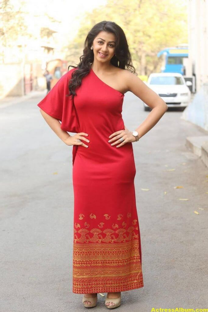Nikki Galrani Stills Latest Photoshoot In Red Dress 2